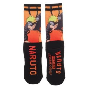 Naruto Sublimated Panel Men's Crew Socks 1 Pair
